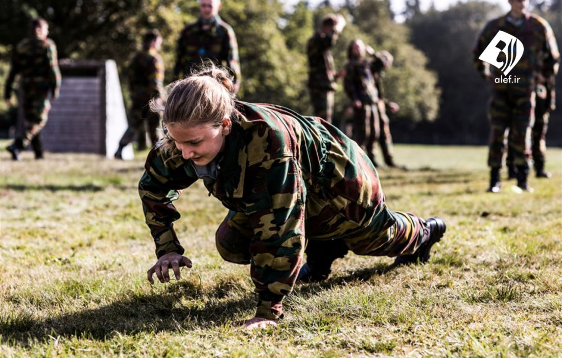تمرینات نظامی شاهزاده خانم بلژیکی